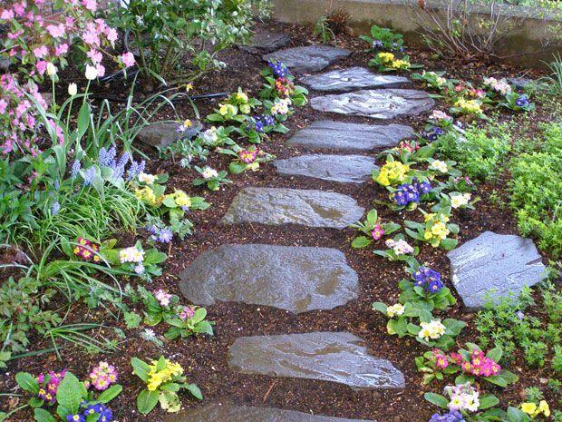Stone Pathways For Gardens Stone garden with mulch google search outdoor ideas pinterest stone garden with mulch google search workwithnaturefo