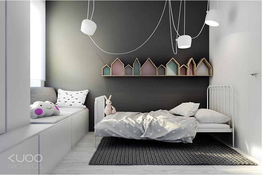 Gordijnen Babykamer Geel : Love the row of houses for storage of trinkets meisjeskamer