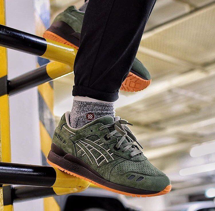 sale retailer 248f8 fd845 asics gel lyte iii militia on Instagram | WANTED | Asics gel ...