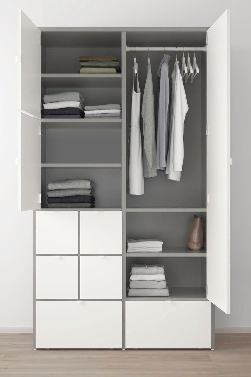 VISTHUS Kleiderschrank grau, weiß IKEA Deutschland in