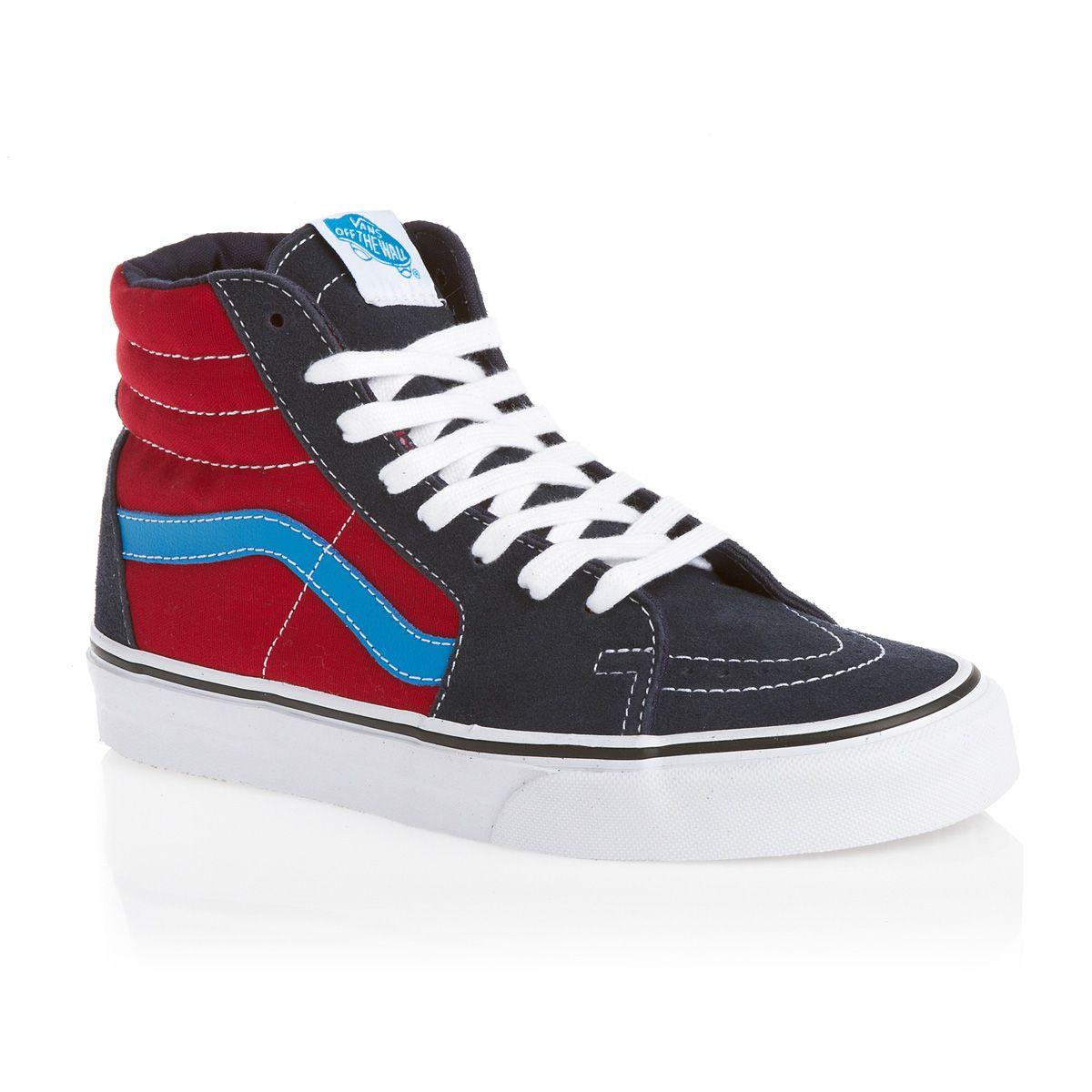Vans Shoes - Vans Sk8-Hi Shoes - Dress Blues Chili Pepper  05db65d749