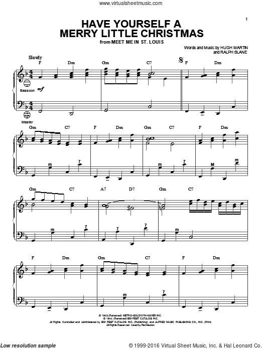 have yourself a merry little christmas sheet music for accordion by - Have Yourself A Merry Little Christmas Frank Sinatra