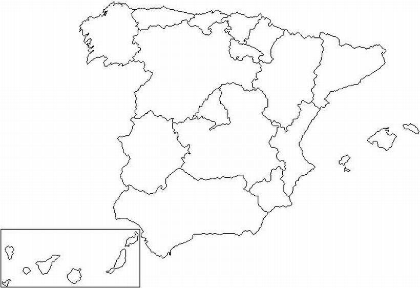 Mapa De España Comunidades Mudo.Ubica En El Mapa Las Comunidades Autonomas Y Las Ciudades