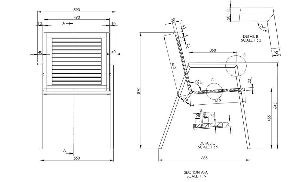 Nirvana Chair Dimension Jpg 1000 600 Stainless Steel Table Legs Stainless Steel Chair Teak Garden Furniture