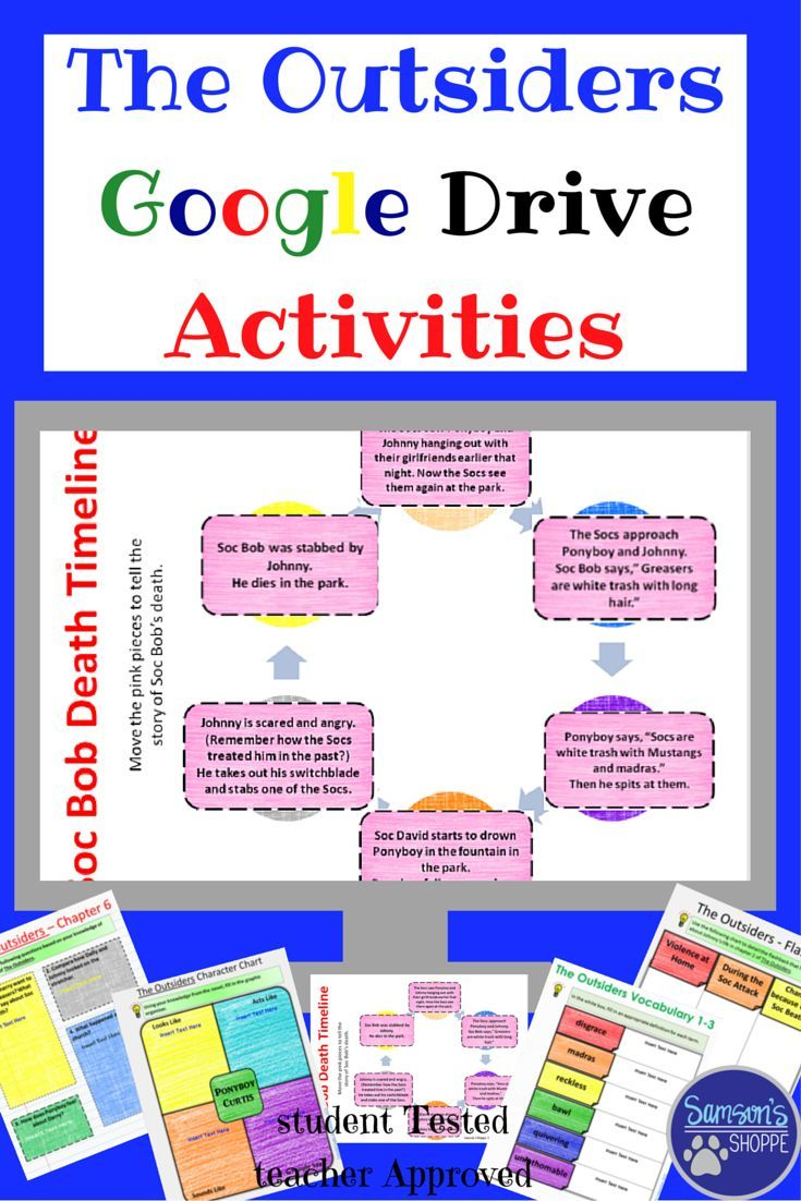 Workbooks the outsiders workbook : The Outsiders Guided Reading Activities for Google Classroom ...