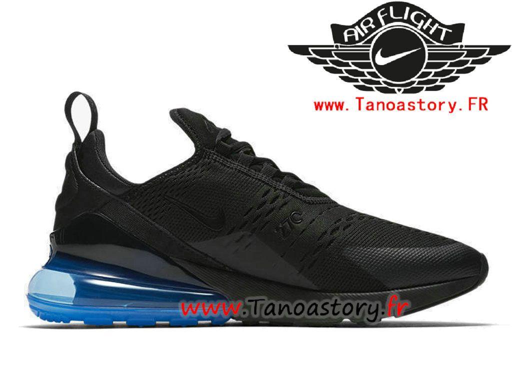info for d1d91 53f54 Chaussures Homme Nike Air Max 270 Prix Pas Cher Noir Bleu AH8050-009-Tenez
