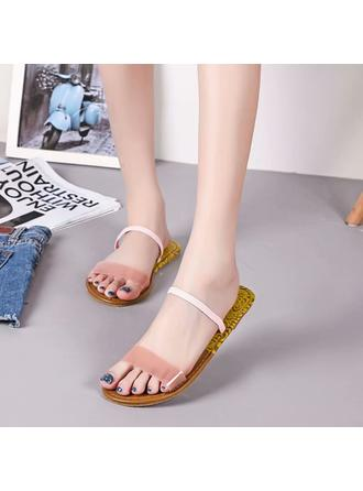 1059 Womens Leatherette Flat Heel Sandals Flats Peep Toe With Others shoes  VeryVoga