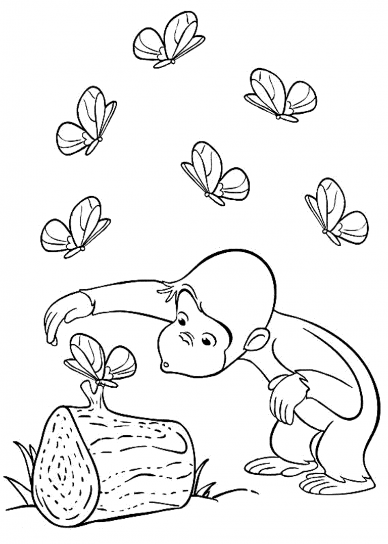 Curious George Coloring Pages Best Coloring Pages For Kids Curious George Coloring Pages Monkey Coloring Pages Butterfly Coloring Page