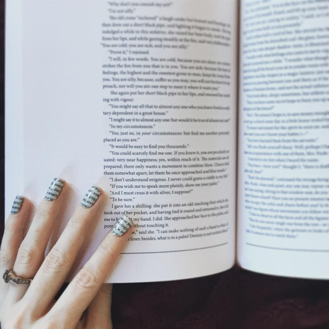 "How about some #GoodReads at your fingertips? The ""Literary"" #NerdManicure is…:"