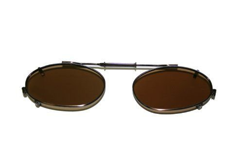 Polarized Springlock Clip-on Sunglasses, Easy Driving, Fishing and Boating, Brown Lens Color Available, Gift Idea JUST MATCH-IT. $6.99. Save 46% Off!