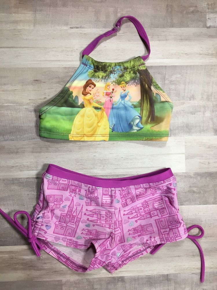 DISNEY STORE Princesses Girls two piece bikini swimsuit purple size 4    eBay