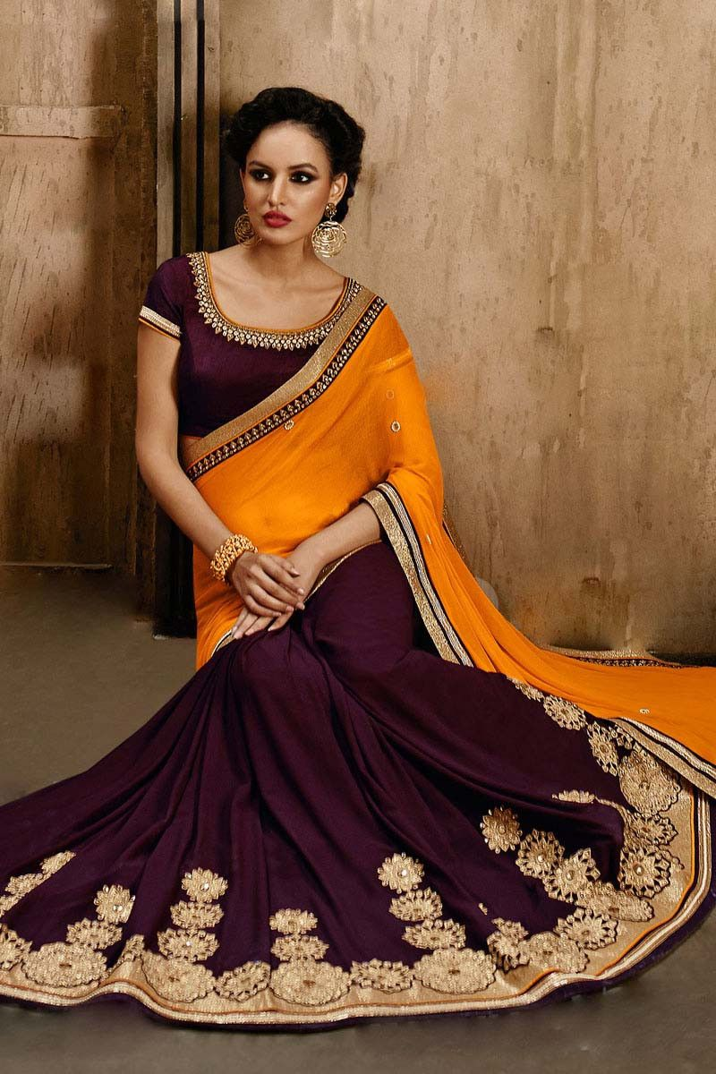 Brown chiffon wedding saree dev pinterest wedding sarees