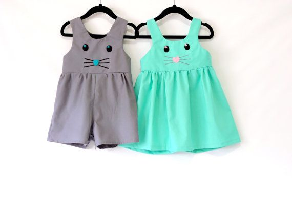 Boys Girls Dress Baby Rompers Jumpsuit Outfits Clothes Easter Bunny Design