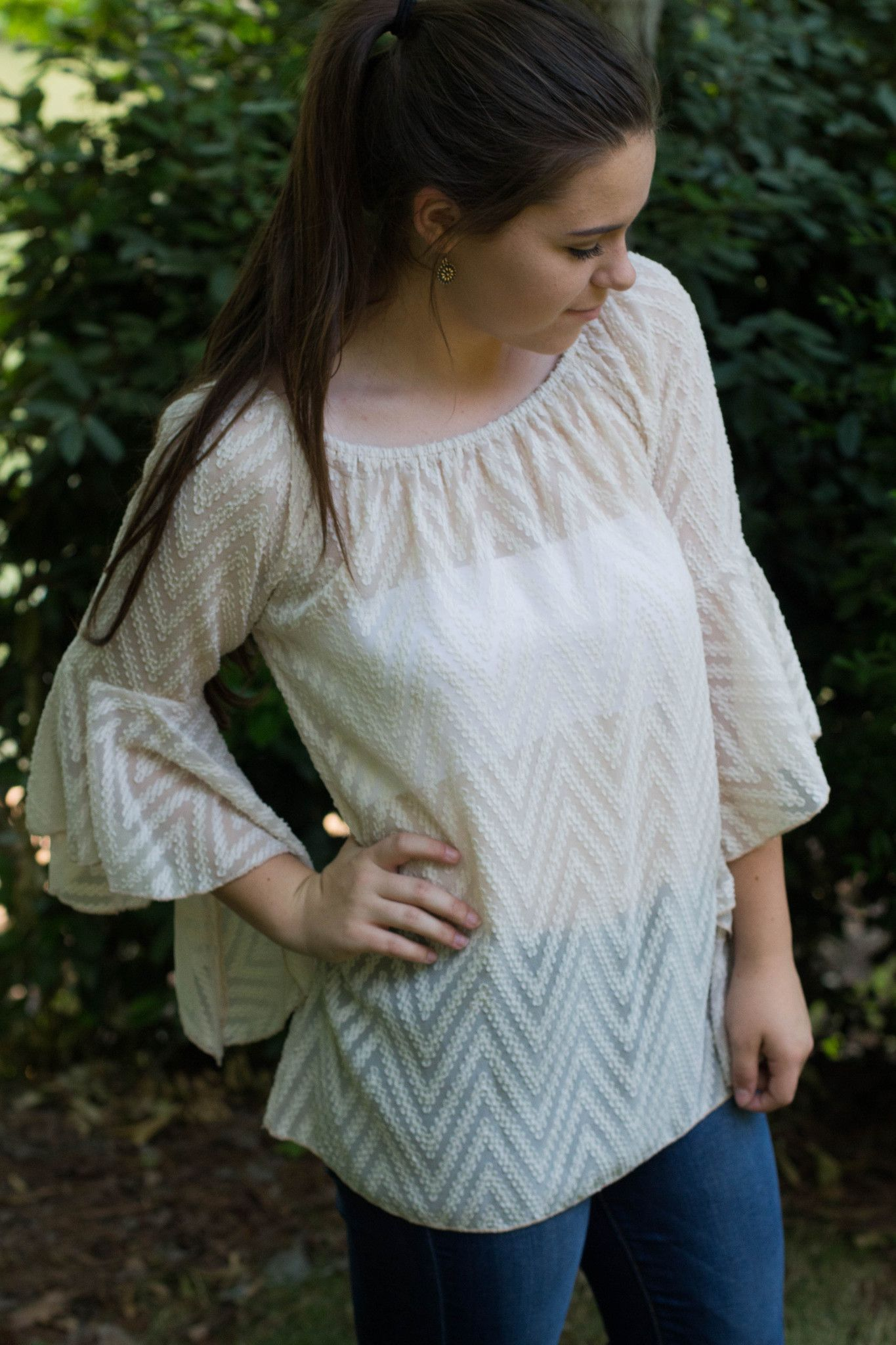 Summer of Love Top, Cream – Madison Kate Boutique