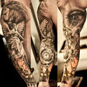Niki Norberg religious full sleeve tattoo -   24 religious tattoo sleeve