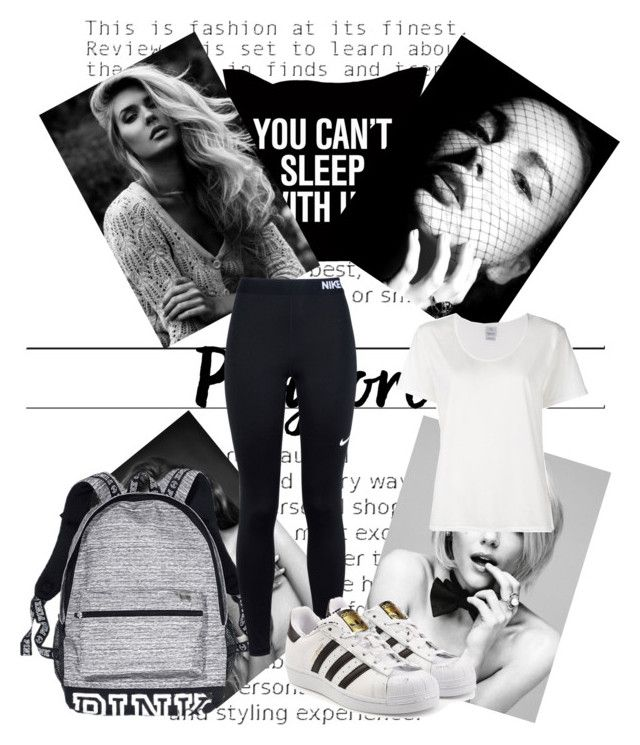 """""""Black and white"""" by crazyaboutfashion14 ❤ liked on Polyvore featuring Victoria's Secret, NIKE, adidas Originals and Visvim"""