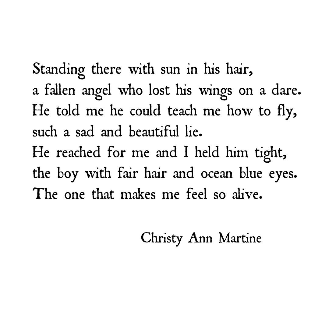 Love Poetry Quotes Love Poetrychristy Ann Martine  Romantic Quotes And Poems