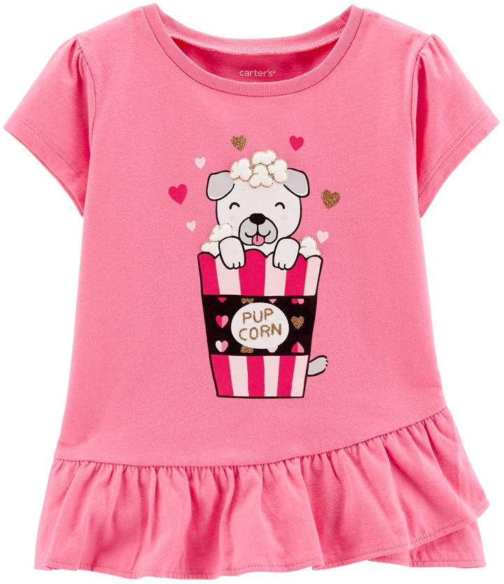 Carters Baby Girls Graphic Tee Baby Brt Pink