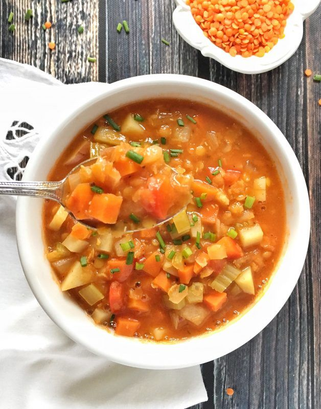 Red Lentil Soup With Root Vegetables And Sage