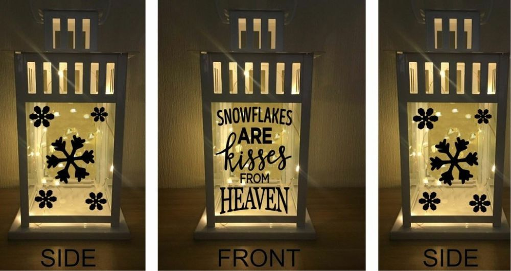 Vinyl sticker for lantern snowflakes are kisses from heaven with snowflakes unbranded