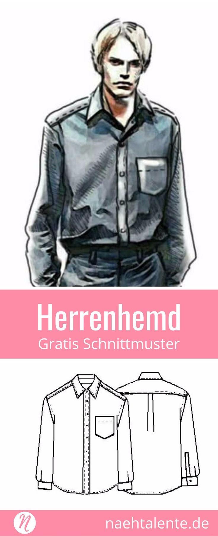 89e7db981f Kostenloses Schnittmuster für ein Herrenhemd in Gr. 44 - 56. PDF zum  Ausdrucken.