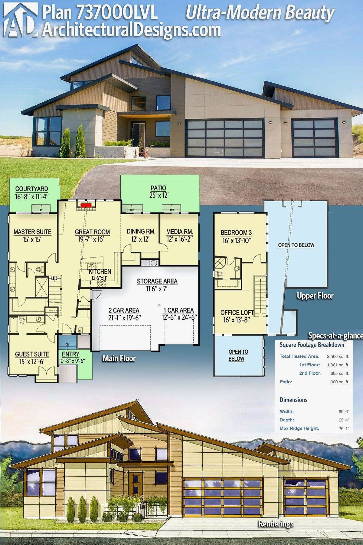 Ultra Contemporary House Plans 2020 Di 2021 Denah Rumah Modern Arsitektur Rumah Modern