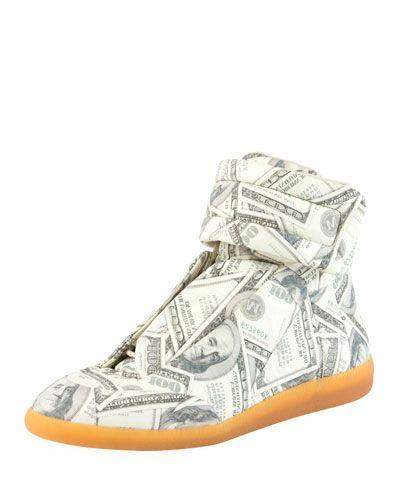 27b67e00be MAISON MARTIN MARGIELA FUTURE MONEY HIGH-TOP GRIP SNEAKER