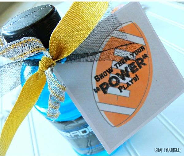 powerade power play tag on bottle