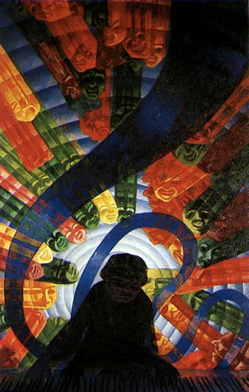 music luigi russolo art futurism painting the green  music luigi russolo 1911 art futurism painting