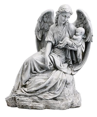 Guardian Angel With Baby Memorial Miscarriage Baby Statue