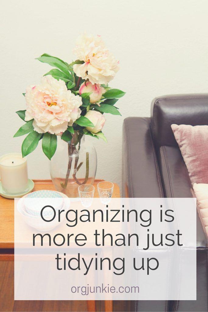 Organizing more than just tidying up   Organizing