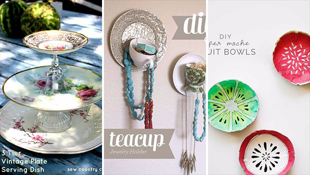 16 Amazing DIY Ideas From Old Dishes That You Can Easily Make