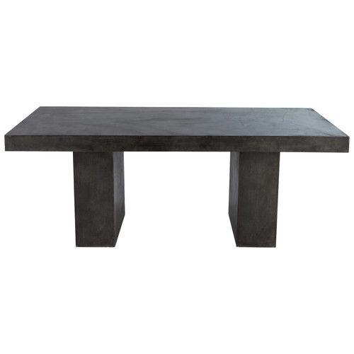 Table En Magnésie Anthracite Effet Béton L 200 Cm | Garden