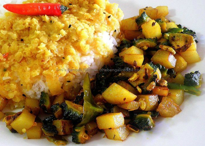 East indian or bengali recipe of alu uchchhey chochchori or calcutta east indian or bengali recipe of alu uchchhey chochchori or calcutta style potato and bitter melon forumfinder Choice Image
