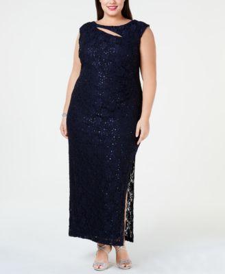 66bf736cb63 Connected Plus Size Glitter Lace Sheath Dress - Tan Beige 22W