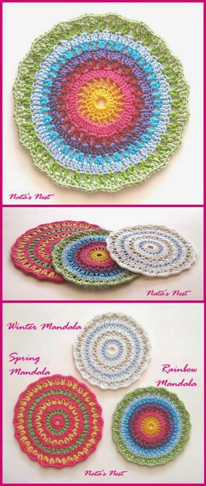 60+ Free Crochet Mandala Patterns - Page 6 of 12 - DIY & Crafts ...