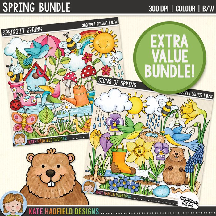 spring clip art bundle clip art teacher pay teachers and teacher rh pinterest com Spring Flowers Clip Art Spring Coloring Printables