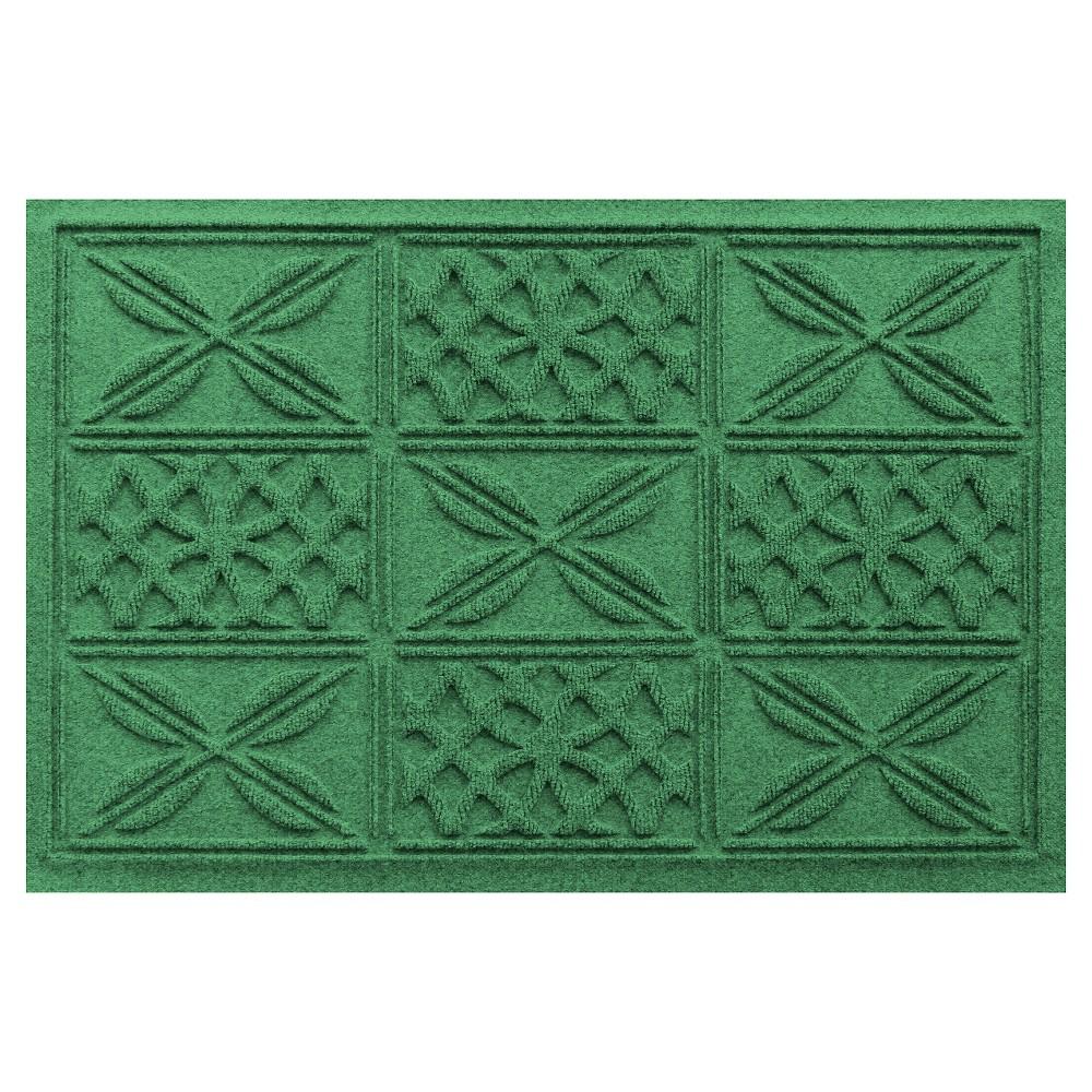 Bungalow Flooring Aqua Shield Patchwork Grid Floormat -