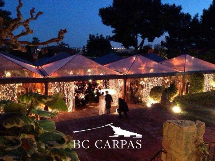 Carpa transparente para boda bodas de - Carpas para patios ...