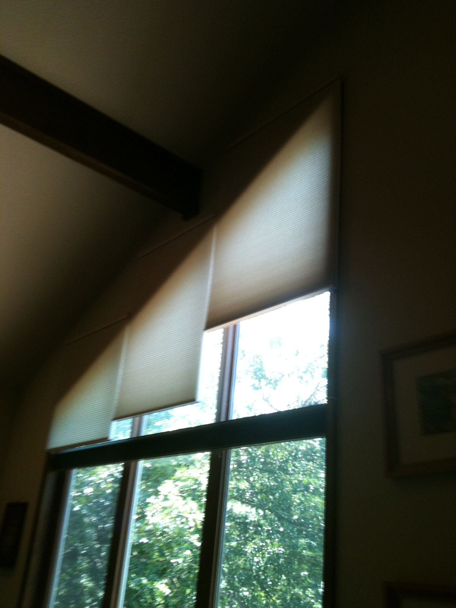 window shades for house inexpensive tricky angled windows treated with motorized graber shades living