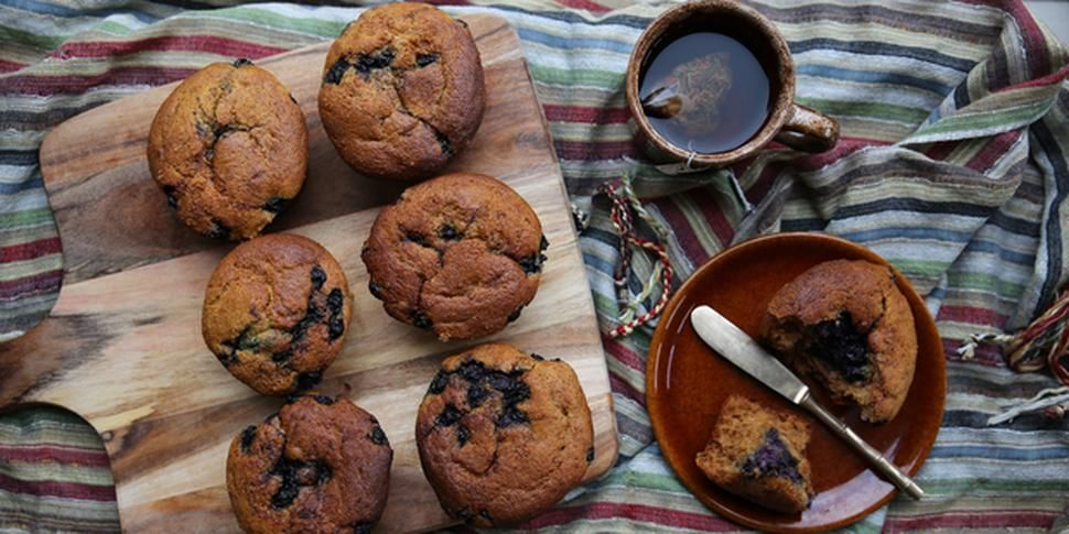 Petite Kitchen's lavender, blueberry and lemon muffins - Try this moist muffin recipe from Eleanor Ozich of Petite Kitchen