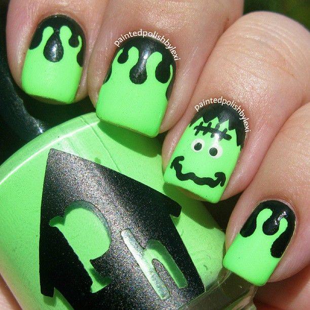 halloween by paintedpolishbylexi #nail #nails #nailart | Cute nail ...