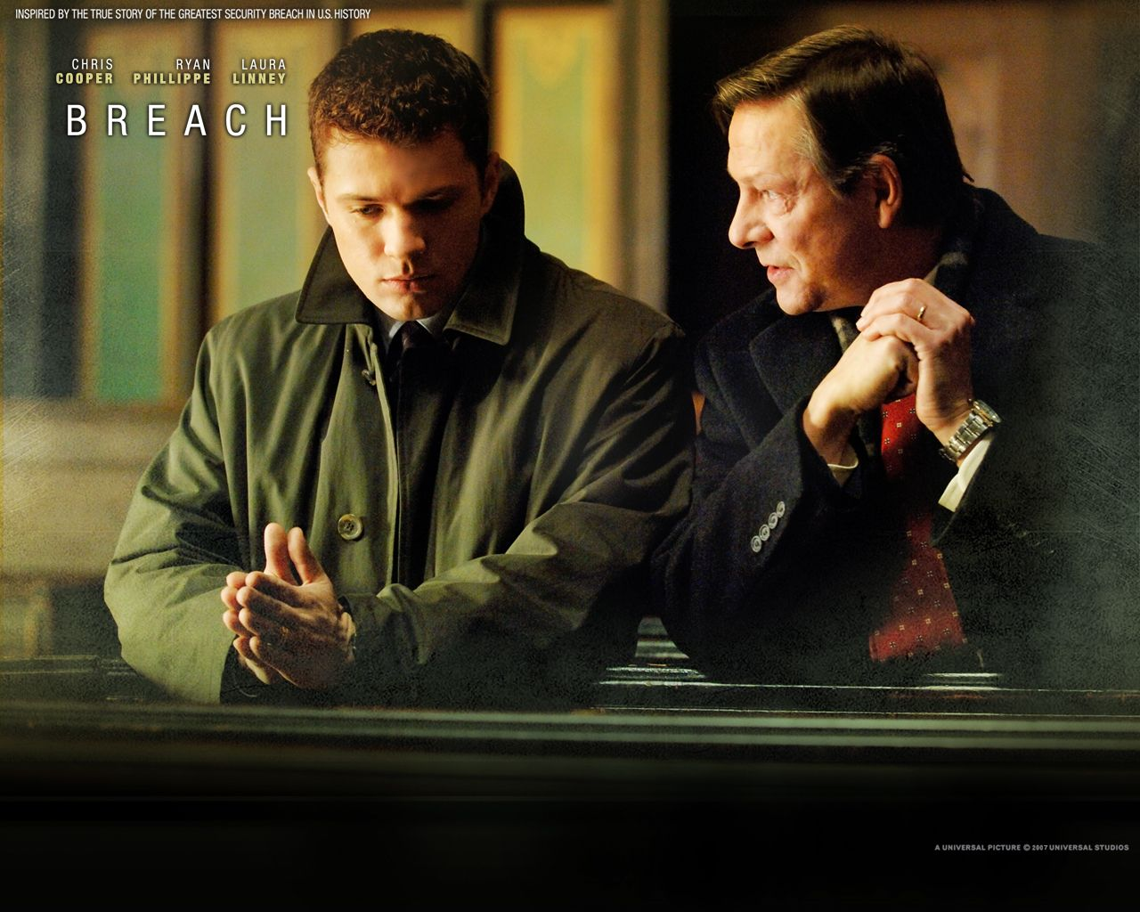 Watch Streaming Hd Breach Starring Chris Cooper Ryan Phillippe Dennis Haysbert Laura Linney Based On The True Story F Movies Movie Genres Dennis Haysbert