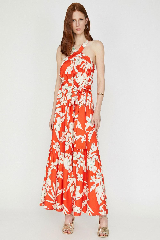 Koton Kirmizi Desenli Elbise 9yak83237ew Elbise Elbise Modelleri The Dress