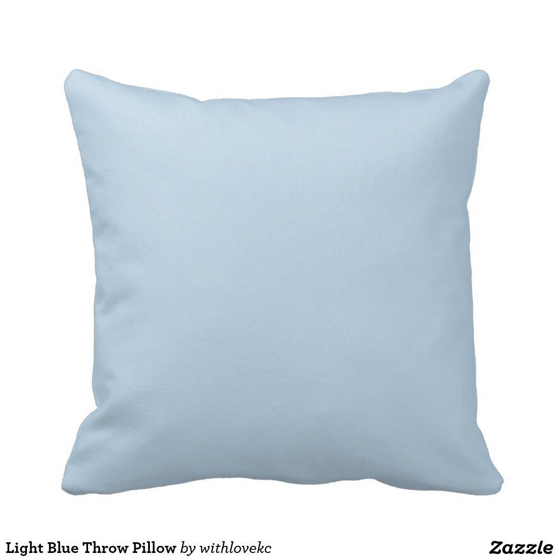 Light Blue Throw Pillow Zazzle