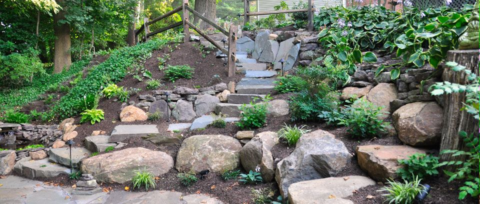 Landscape Design Broomall Pa Naturescapes Landscaping Steep Hill Landscaping Landscape Design Landscaping On A Hill