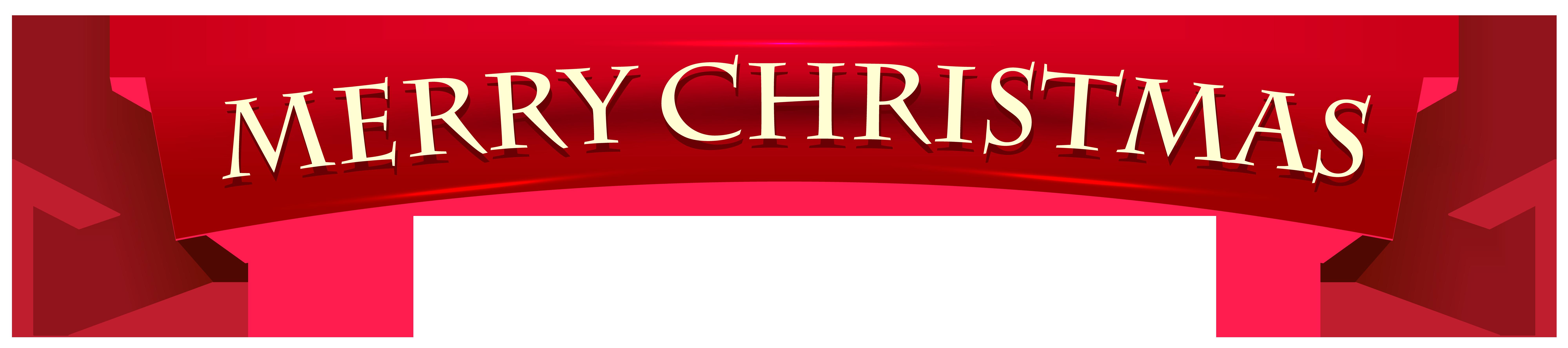 Banner Merry Christmas Transparent Clip Art Image Clip