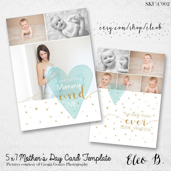 5x7 Mother 39 S Day Card Template Maternity Mini Session Mommy Gift Photoshop Template C002 Insta Mothers Day Card Template Mommy Gift Card Template