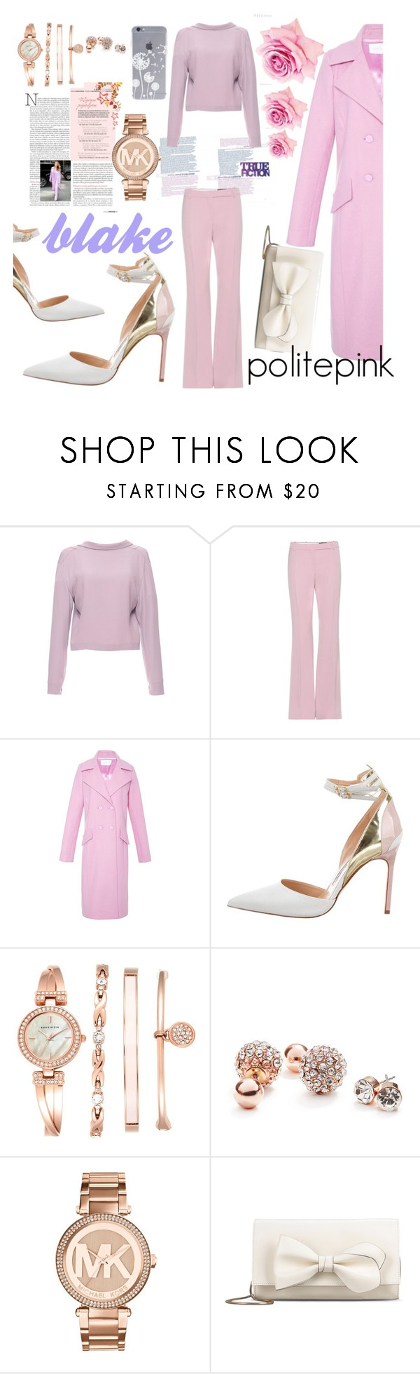 """""""#775 - blake lively"""" by politepink ❤ liked on Polyvore featuring Marni, Alexander McQueen, Cushnie Et Ochs, Manolo Blahnik, Anne Klein, GUESS, Michael Kors and RED Valentino"""