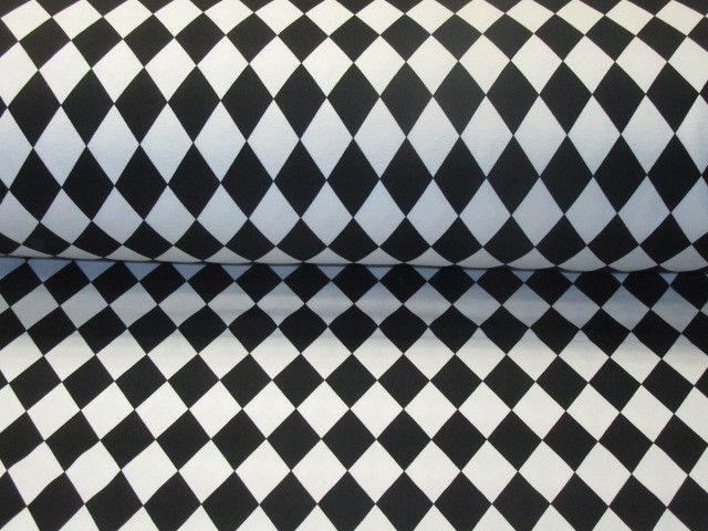jersey harlekin muster schwarz wei swedendesign von nordlicht stoffe auf. Black Bedroom Furniture Sets. Home Design Ideas